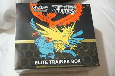 Pokemon Hidden Fates Elite Trainer Box - Factory sealed 10 booster gift pack