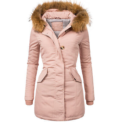 attentif damen echtfell parka wintermantel winterjacke rot. Black Bedroom Furniture Sets. Home Design Ideas