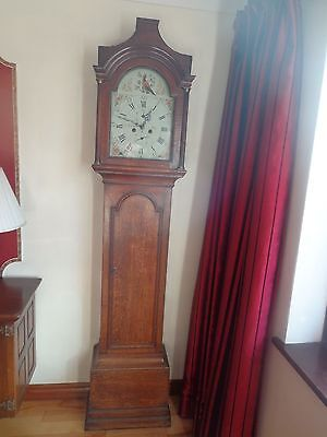 GENUINE Early George III Oak Antique 8 Day Longcase Grandfather Clock Circa 1780