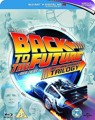 Back to the Future Trilogy 30th Anniversary 1 2 3 Blu-Ray Set NEW Free Ship