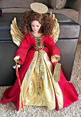 "Stunning Large 23"" Seymour MANN Christmas Angel Porcelain Doll ANGELIQUE"