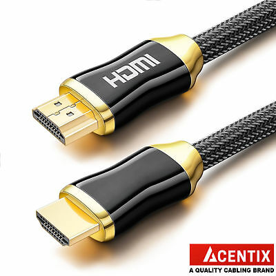 ACENTIX® 4K ULTRA HIGH SPEED HDMI v2.0 CABLE 50CM/0.5/1/1.5/2/3/5/7.5/10/15/20M