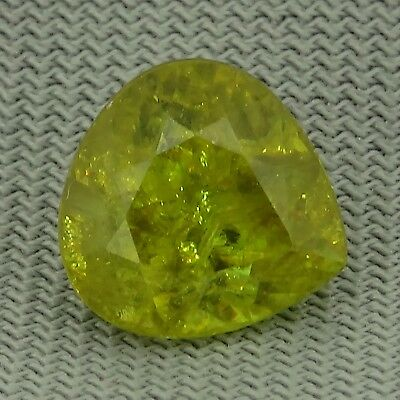 pear cut natural greenish yellow sphene 2.57ct Genuine Loose Gemstones