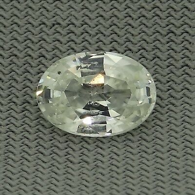 oval cut natural white sapphire 1.08ct Genuine Loose Gemstones