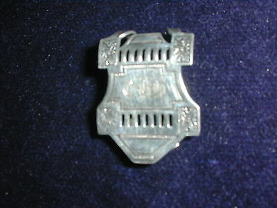 Antique Sterling Napkin Clip-Maker's Mark is W&C Entwined Mono CHR- Beautiful