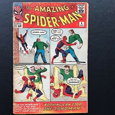 The Amazing Spider-Man #4 - 1st App. of Sandman & Betty Brant Spidey ASM