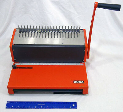 Vintage Ibico Ibimatic AG Seestrasse 346 Comb Binding Paper Punch Machine Works