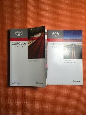 2014 Toyota Corolla Owner's Manual [04024] 2 Book Set