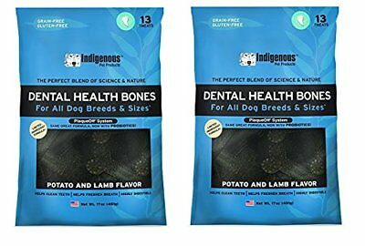 Indigenous Dental Health Bones 17 oz. Potato and Lamb Flavor (2 Pack)