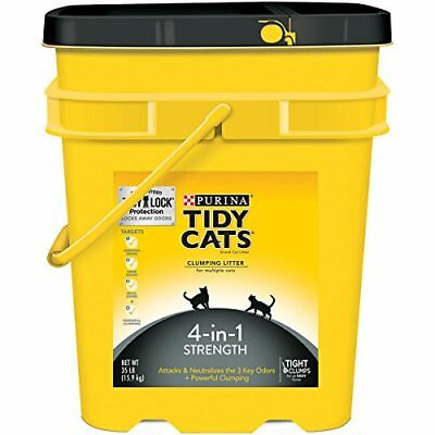 Purina Tidy Cats 4-in-1 Strength Cat Litter - (1) 35 lb. Pail