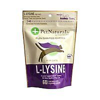 Pet Naturals of Vermont L-Lysine 60 Fun-Shaped Chews for Cats - 3 pack