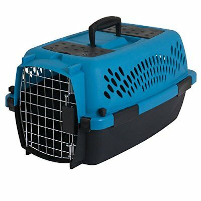 Aspen Pet Pet Porter Plastic Kennel Up to 10 lbs Blue Air/Coffee Grounds Brown