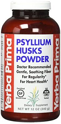 Yerba Prima Psyllium Husks Powder -- 12 oz