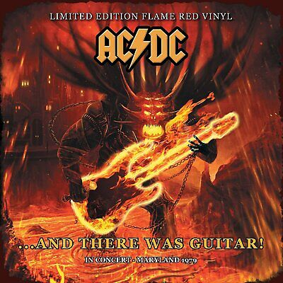 AC/DC And There Was Guitar! In Concert Maryland 1979 RED vinyl LP NEW/SEALED