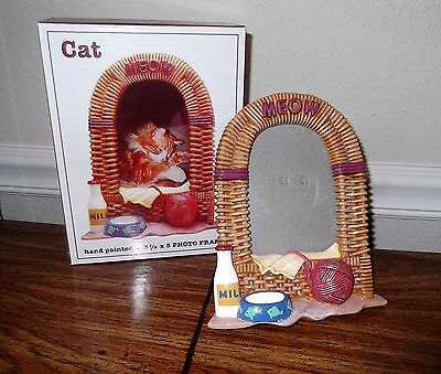 Photo Frame for Cat Photo, Hand Painted Frame for Your Cat Photo
