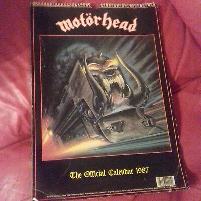 Motorhead - 1987 Official Calendar . - Printed In England . Very Rare Lemmy