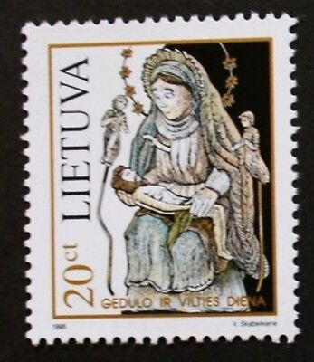 Day of mourning and hope stamp, Pieta, 1995, Lithuania, SG ref: 590, MNH