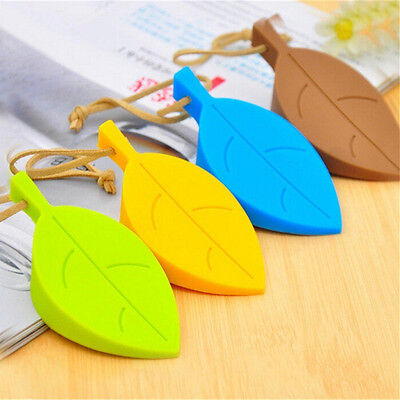 Silicone Leaves Decor Design Door Stop Stopper Jammer Guard Baby Safety Home YC
