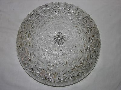 Vintage Antique Glass Ceiling Light Fixture Lamp Shade With Stars Design