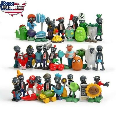 New 40ps Plants vs. Zombies Toys Anime Action figures pvz PVC Kids Gifts