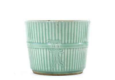 Late 19th Century Chinese Incised Celadon Glaze Porcelain Planter