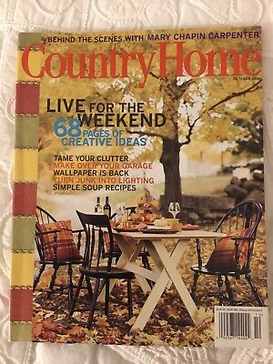 Lot of 4 Decorating Magazines-Country Home, Country Decorating, Home Improvement