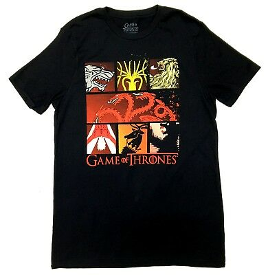 Game Of Thrones STARK TARGARYEN LANNISTER HOUSE SIGILS T-Shirt NWT S-3XL