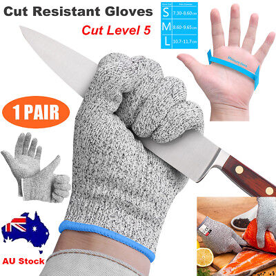 1 Pair Cut Resistant Butcher Gloves Anti-cutting Safety for Kitchen Class 5 SML