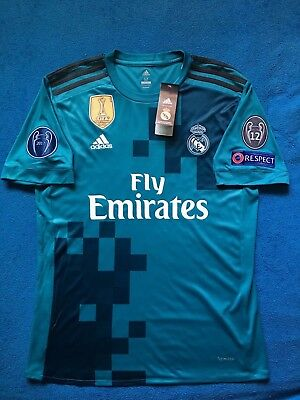 best loved a628c f86a7 REAL MADRID 3RD Away Jersey Ronaldo Champions League Climacool Official