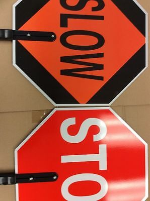 Stop Slow Traffic Sign Paddle Non Reflective