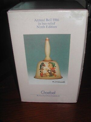 Goebel Hummel 1986 Annual Bell. Ninth Edition. Made in Germany.