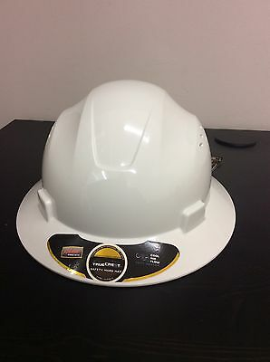 HDPE Natural White Full Brim Hard Hat with Fast-trac Suspension
