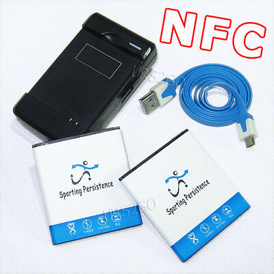 2x 5040mAh NFC Battery Travel Charger USB Cable for Samsung Galaxy S4 L720 I9500