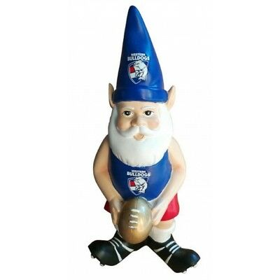 Western Bulldogs Official AFL Garden Gnome with Gold Football