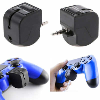 Headphone Earphone Mic Headset Adapter for Sony PS4 PlayStation 4 Controller