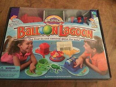 CRANIUM BALLOON LAGOON BY CRANIUM The Four In One Carnival Game Brand New Sealed