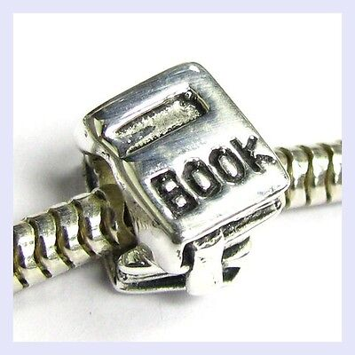 925 Sterling Silver Student Text Book Reader Bead for European Charm Bracelet