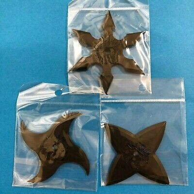 F/S Japanese Ninja Rubber Shuriken Sword in Palm Throwing Star Knife 4pcs Set