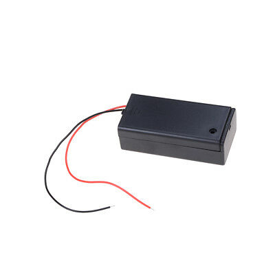 Hot Sale 9V Enclosed Battery Holder Box ON/OFF Switch with Wires YC