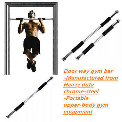 Door Chin Up Bar Abs Portable Home Gym Pull Up Doorway Exercise Workout Fitness