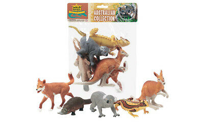 Polybag Australian Animal 5 Pack Collection of Figures Kids Toy Pretend Project