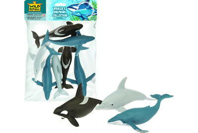 Polybag Whale & Dolphin Sea Collection of Figures Kids Toy Pretend Project