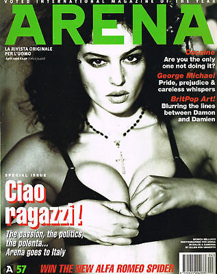 ARENA #57 Italy Iss MONICA BELLUCCI George Michael VINCENT GALLO Gianni Versace