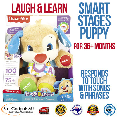 Fisher-Price Laugh & Learn Smart Stages Puppy Learning Songs Soft Cuddly Plush