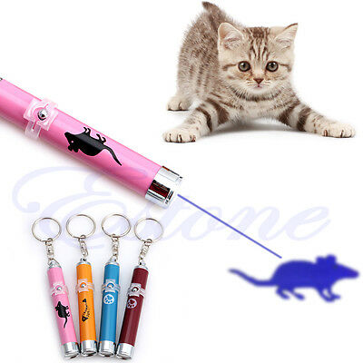 Xmas Pet Toys Cat Dog LED Laser Pointer Light Pen With Bright Mouse Animation CD