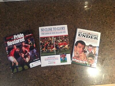 Rugby book bundle British Lions Cleary Connor McGeechan.