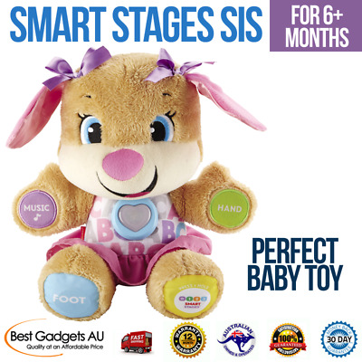Fisher-Price Smart Stages Sis Laugh & Learn Puppy Baby Toys Plush Songs New