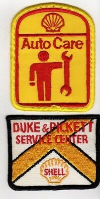 2 Vintage Shell Gasoline,Service Center / Auto Care Jacket Patches