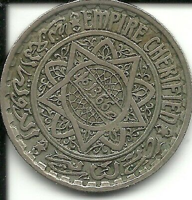 Morocco 10 Francs 1947 - AH 1366  KM 44 (French PROTECTORATE)