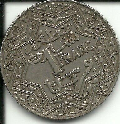 Morocco1 Franc 1924 Y#36. (French PROTECTORATE)